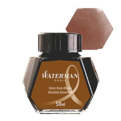Μελάνι πένας μπουκάλι Waterman Καφέ 50ml