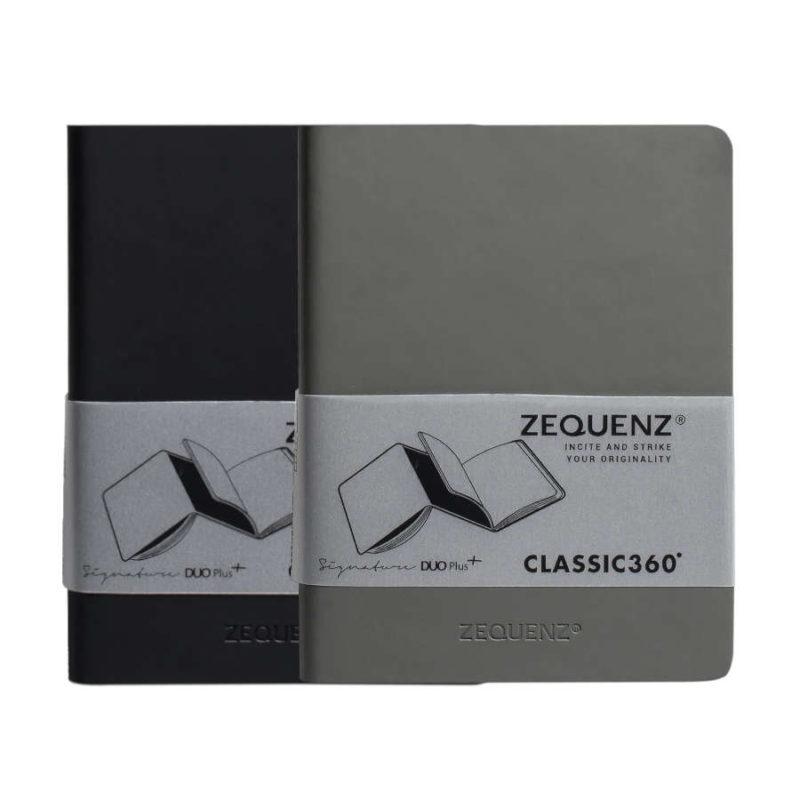 Σημειωματάριο Zequenz A6 Duo Grey/Black