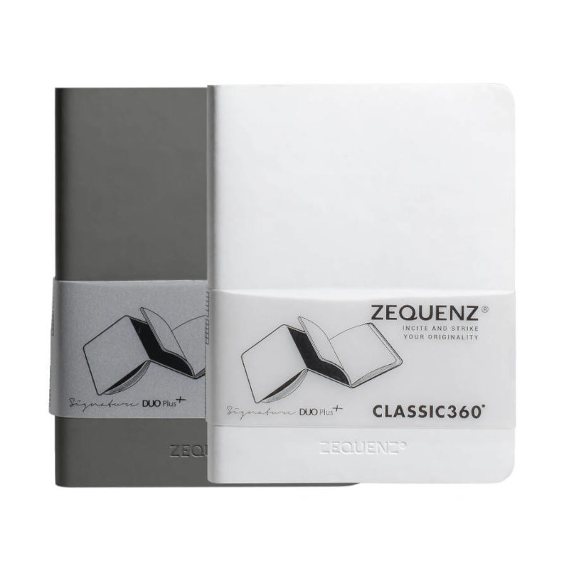 Σημειωματάριο Zequenz A6 Duo Grey/White